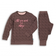 Charlie Choe tüdrukute pidžaama 41B-33006C, Pruun/roosa
