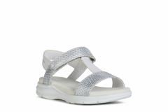 Geox`i tüdrukute sandaalid SUKIE J020VA, C0007 Valge/hõbe