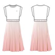 UUS! Guess Kids plisseerseeliku osaga kleit JIGK44JI300, Valge/roosa
