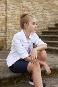 D-XEL tüdrukute teksajakk 4103733, 467 Valge