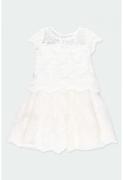 Boboli tikanditega kleit 722001, 1111 valkjas